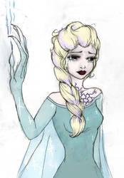 Dark Elsa [WIP] by CamiiW