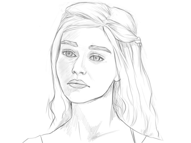 D Line Drawing Game : Daenerys sketch by camiiw on deviantart