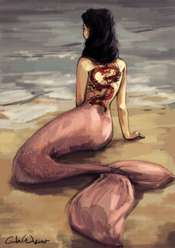 Mermaid with the dragon tattoo