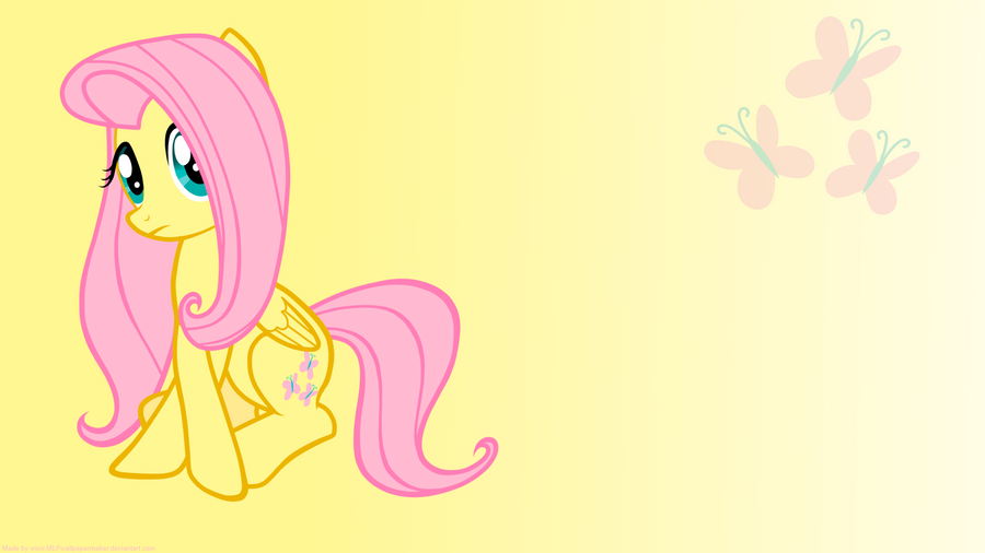 fluttershy wallpaper by mlpwallpapermaker on deviantart