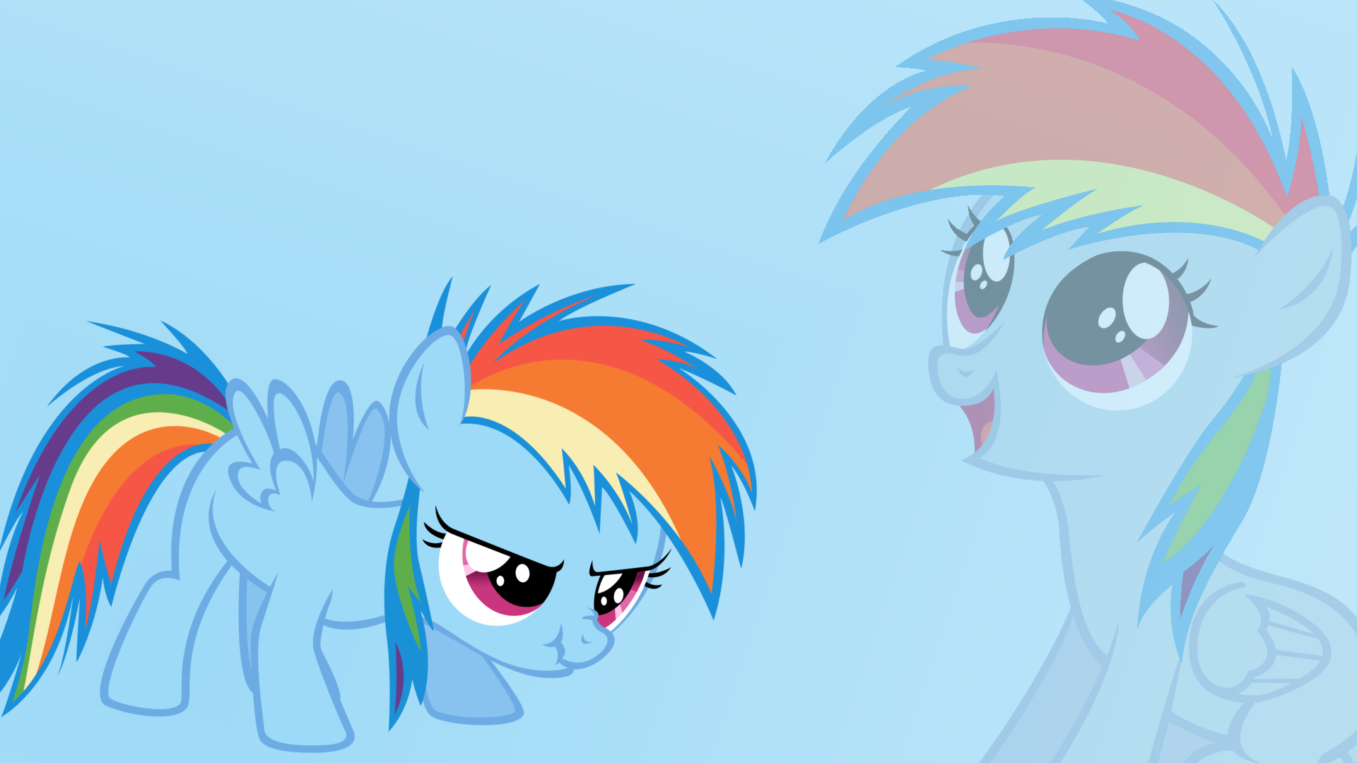 Filly Rainbow Dash Wallpaper by MLPwallpapermaker on ...