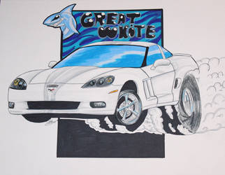 Great white corvette by Musaudi