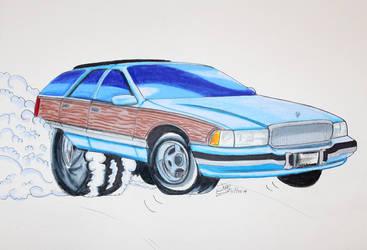 Blue roadmaster wagon by Musaudi