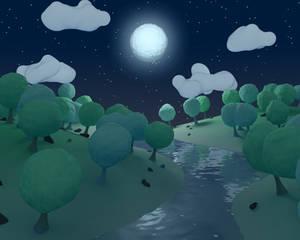 Valley Nightime