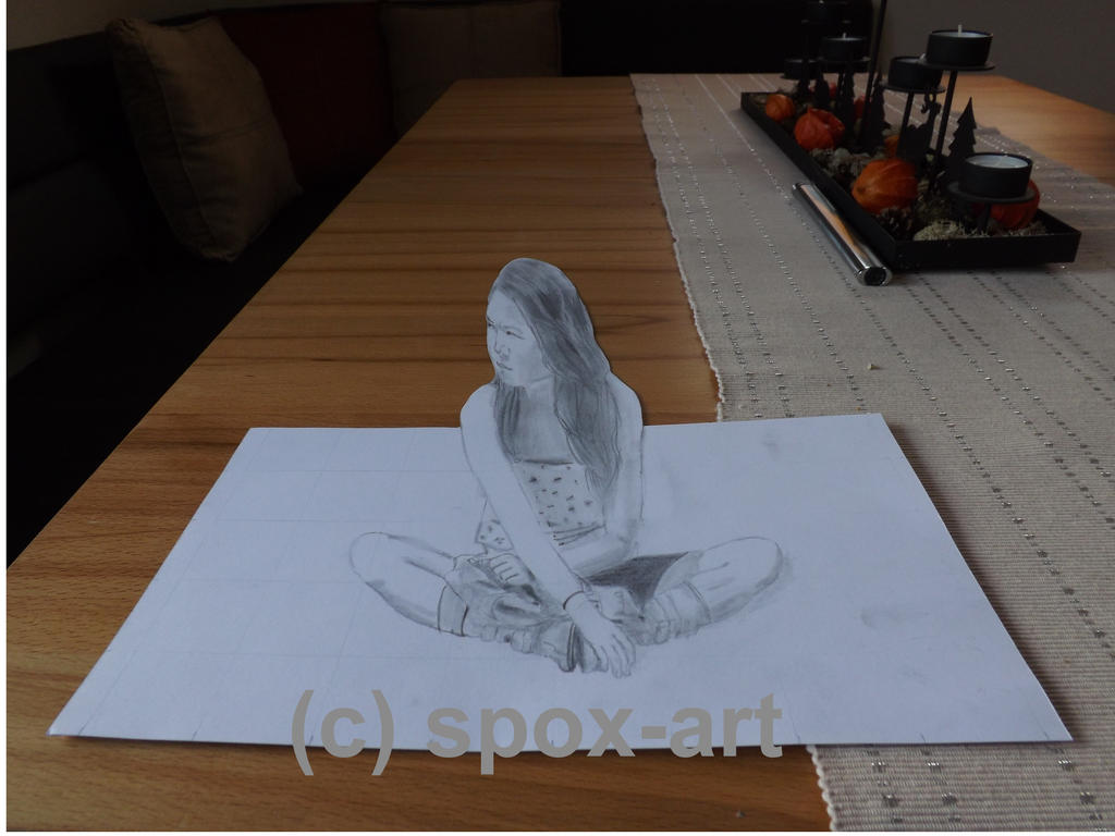 3d drawing by spox art on deviantart for Simple 3d art