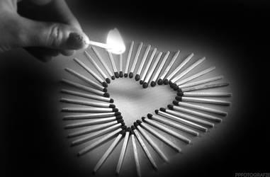 Heart in flames by PPFotografie