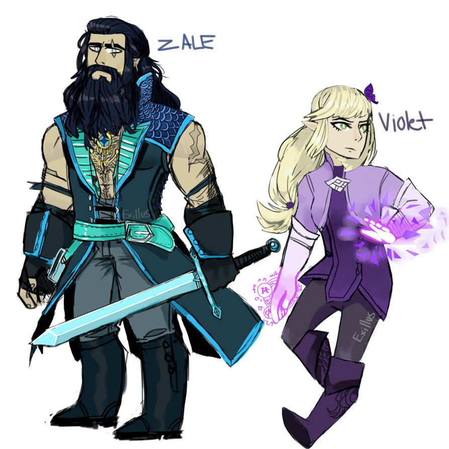 Zale and Violet by Exillus