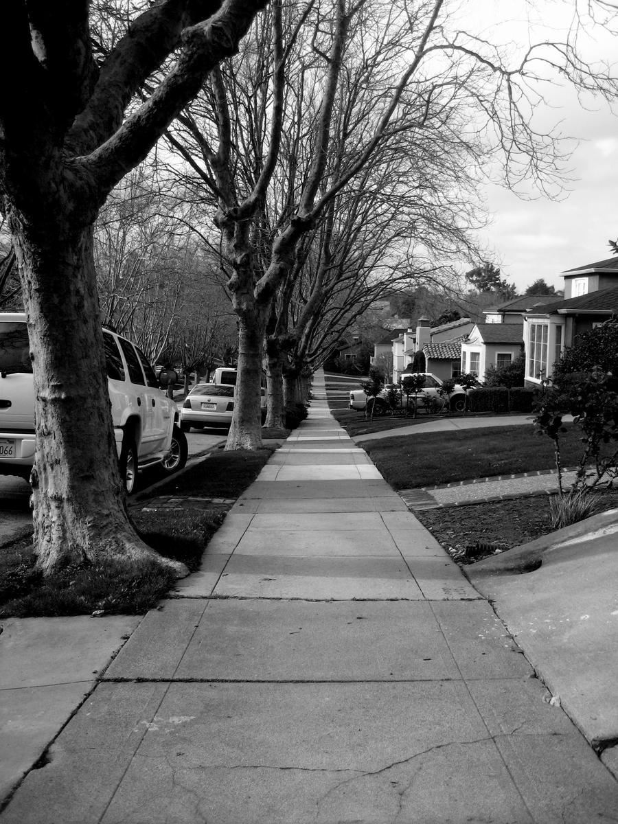 Black and White 3 - Sidewalk by Epsilon60198 on DeviantArt