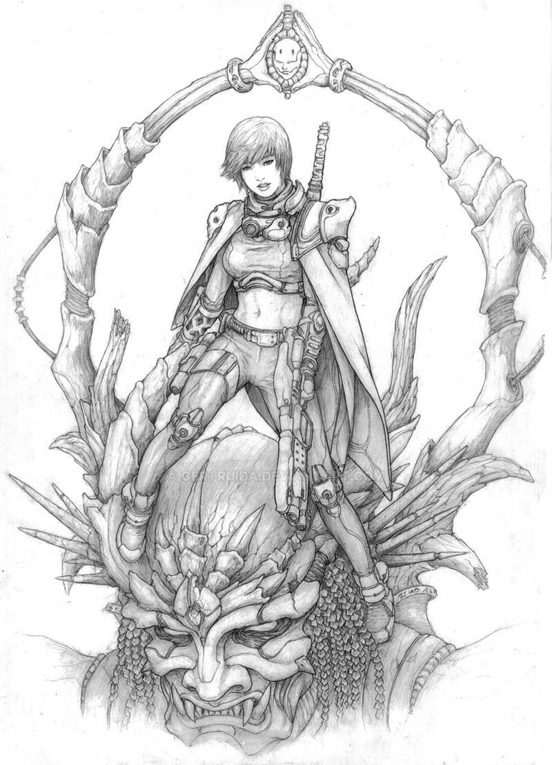 the Huntress by gertruida