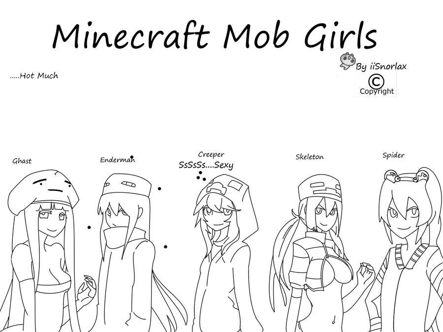 Minecraft Mob Girls By Iisnorlax On Deviantart