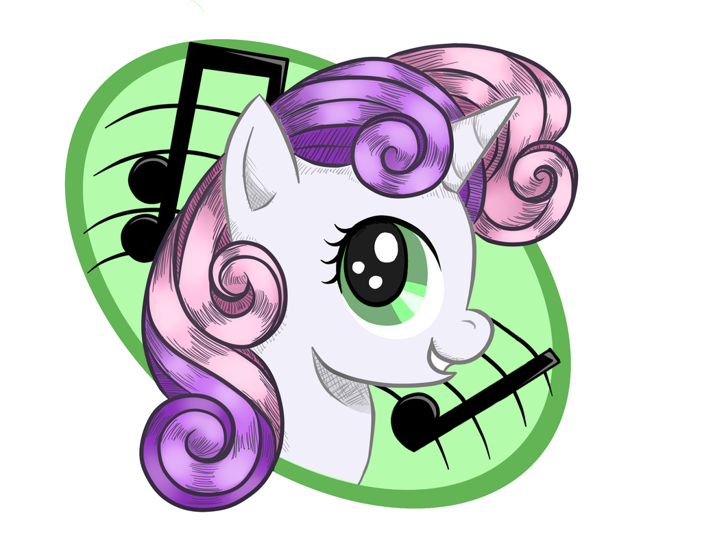 Sweetiebelle Keychain by BuckingAwesomeArt