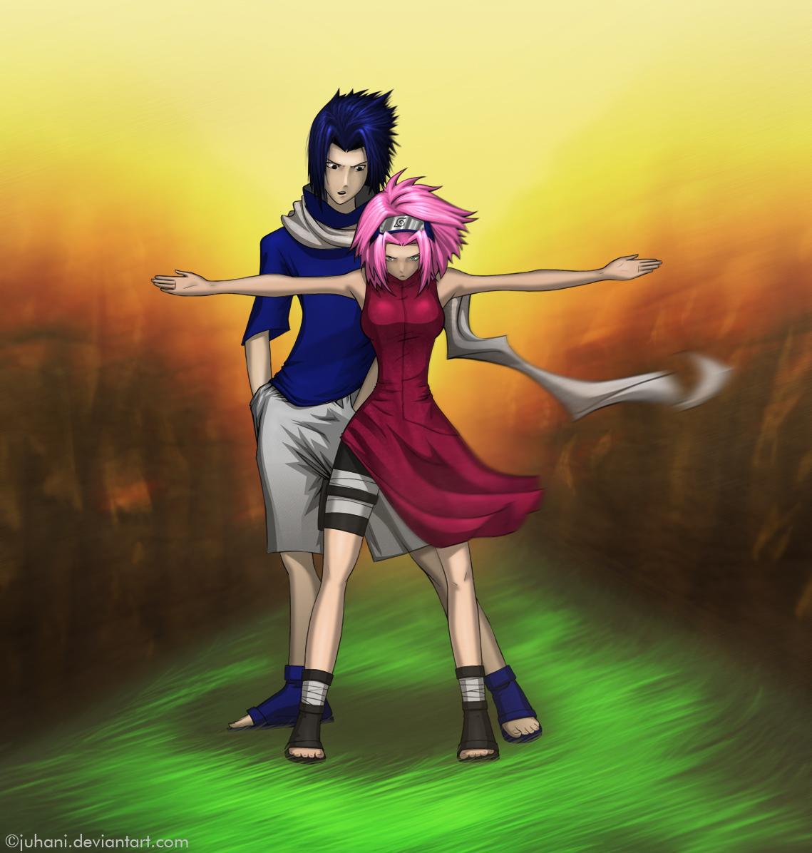 sasuke protects sakura wallpaper - photo #2