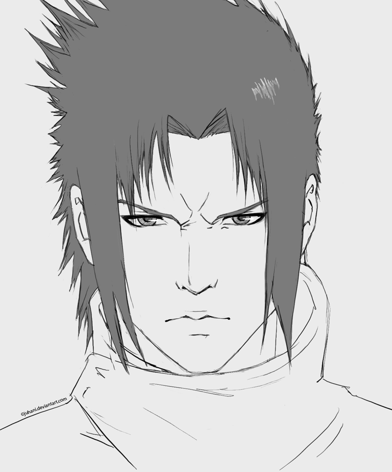 Sasuke Portrait sketch by Juhani