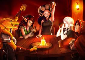 Tavern scene by Juhani
