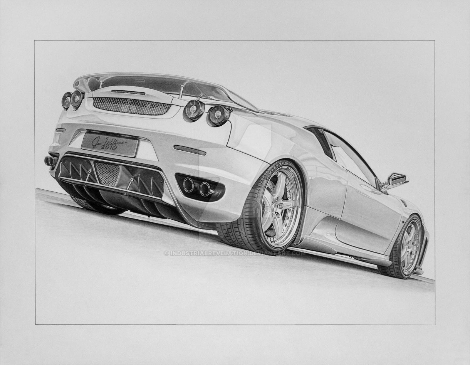 Lamborghini drifting drawing