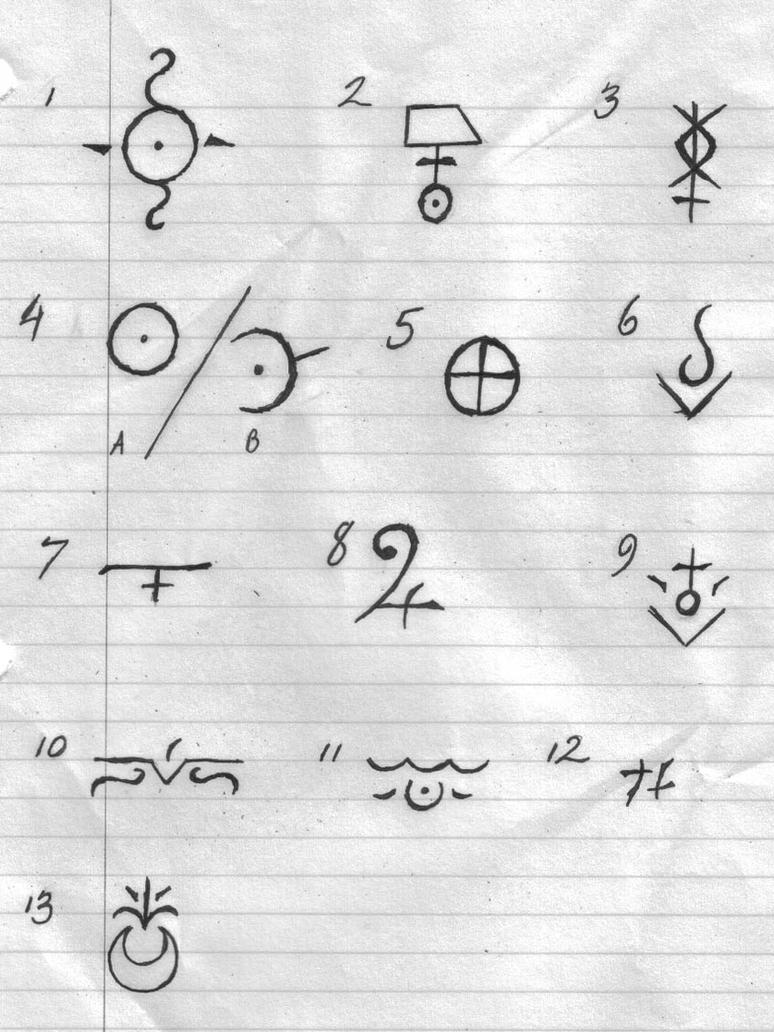 Element symbols by flamesofzero on deviantart planetary symbols for omen by sybil biocorpaavc Images