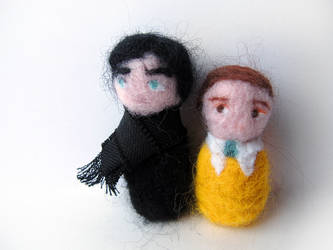 Felt Sherlock and John by moranas