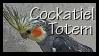 Cockatiel Totem Stamp by VampsStock