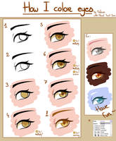 Tutorial - How I color eyes by MinEevee