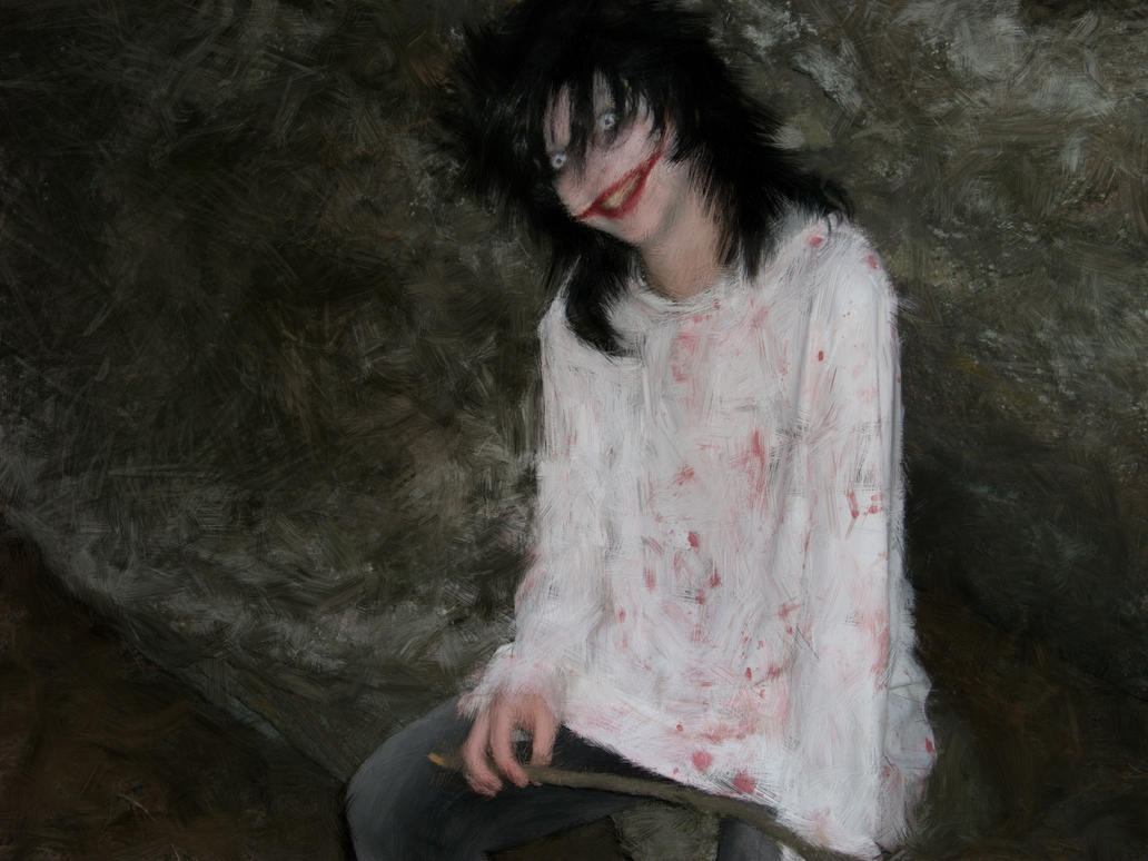 Jeff the killer painting by LostWoodsCosplay