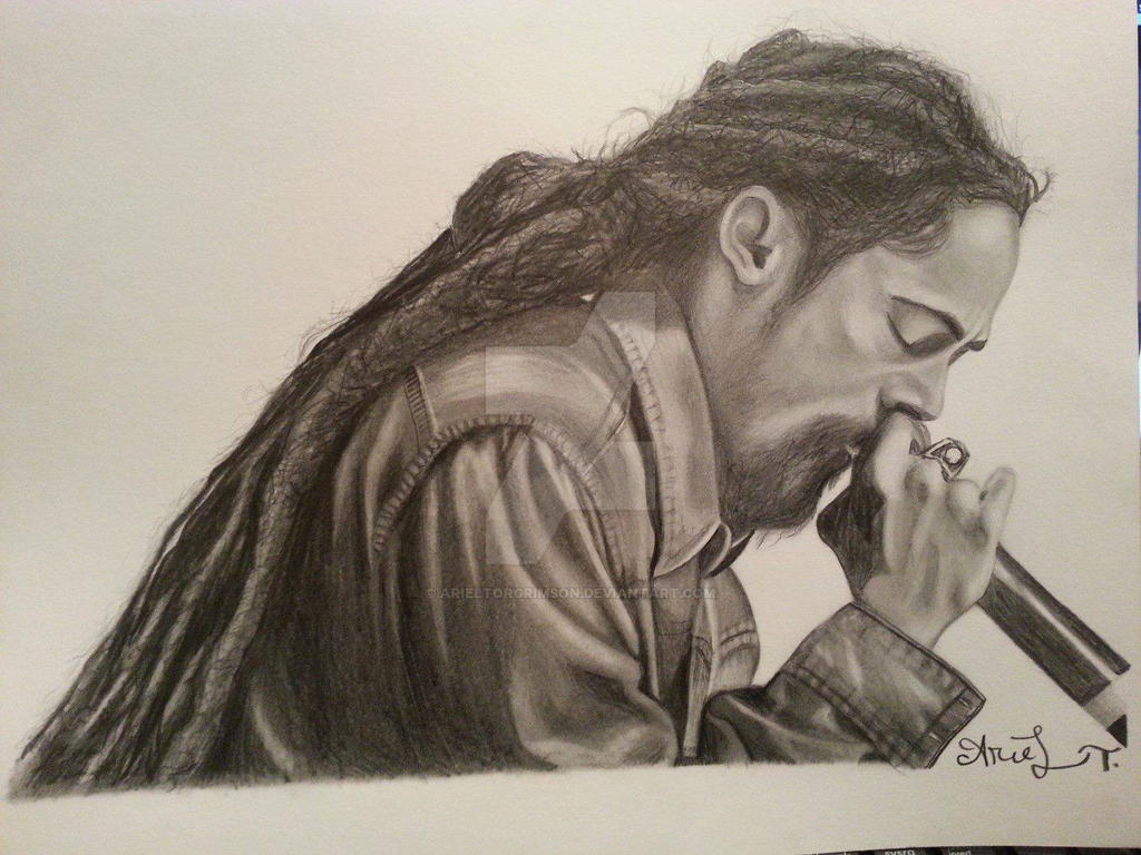 Damian marley pencil portrait by arieltorgrimson