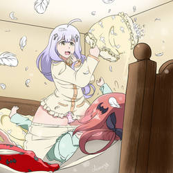 what happen when angel invite u in her sleepover by diana908