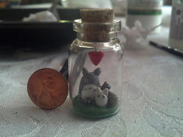 Bottled my neighbor Totoro family by PiroDragon