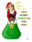 Coloring: SantaSack X-Mas Card