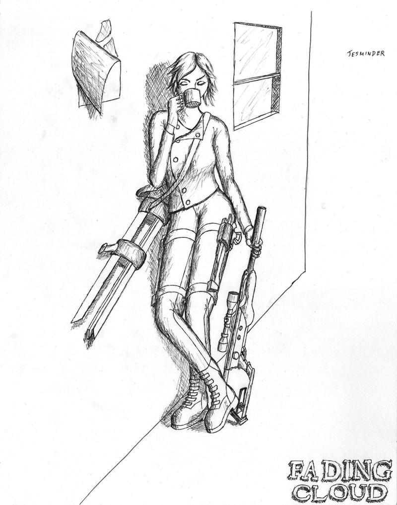 Jess Coffee and Guns by BrainCrash