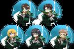 Attack on Titan - Eren, Levi, Mikasa, Armin, Jean