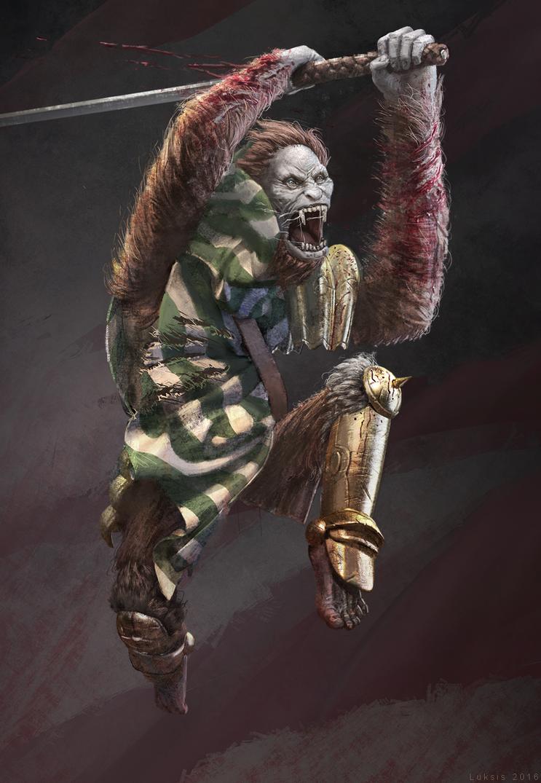 Ape For Dude Goat Illustration by zimetajs