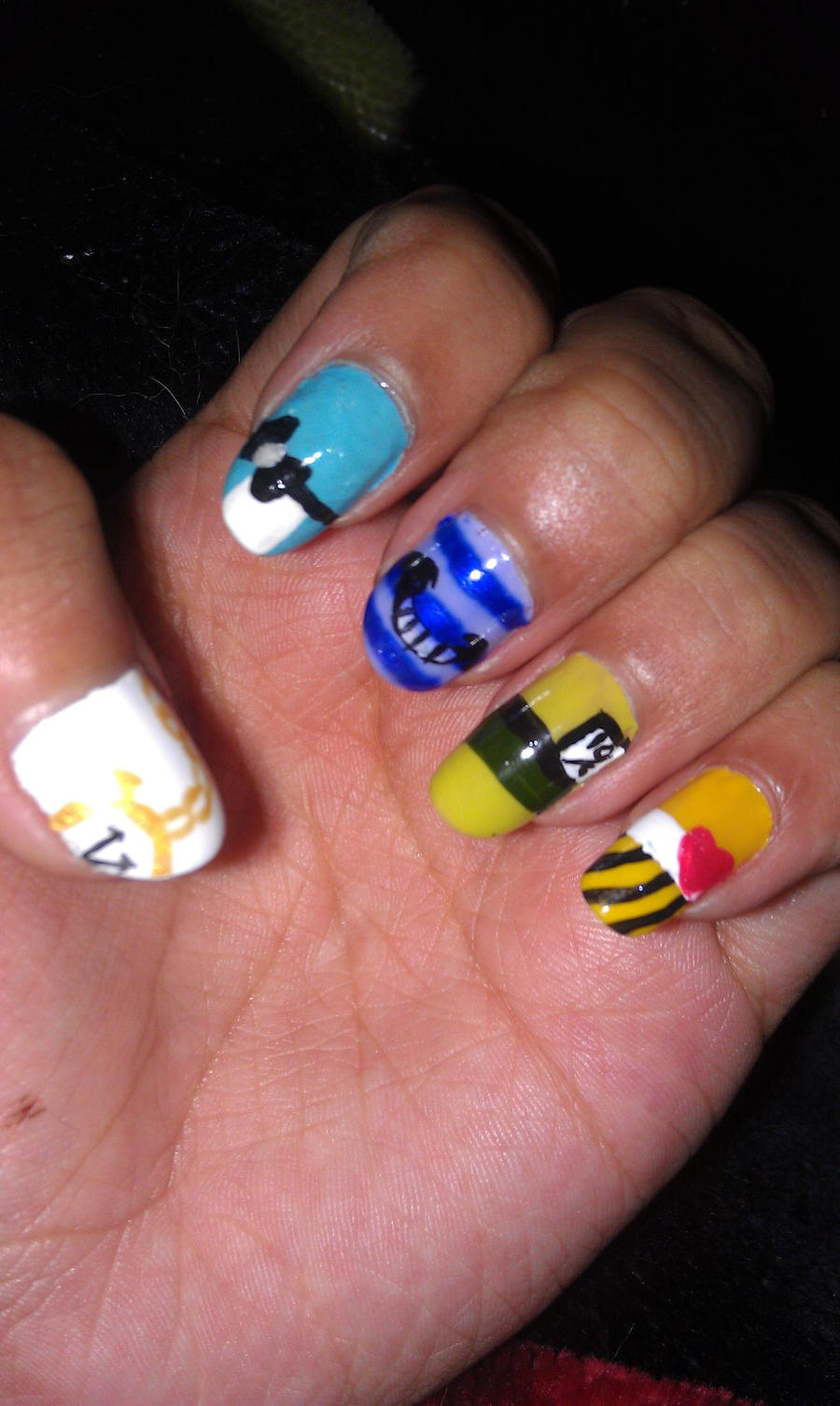Magnificent Alice In Wonderland Nail Art Component - Nail Art Ideas ...