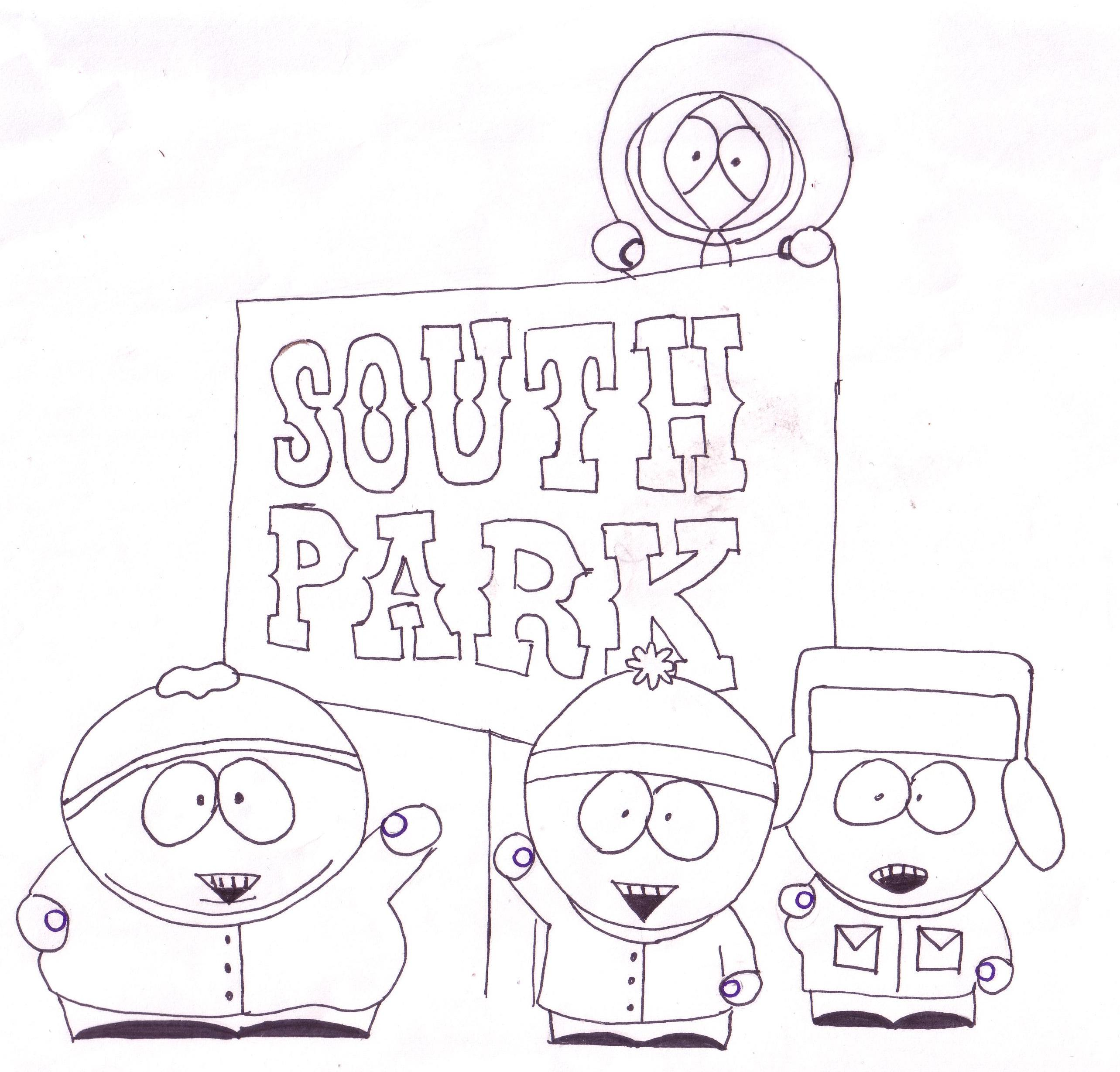 south park coloring pages - south park b and w by danielle 15 on deviantart
