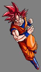 Goku SSJ God by hsvhrt