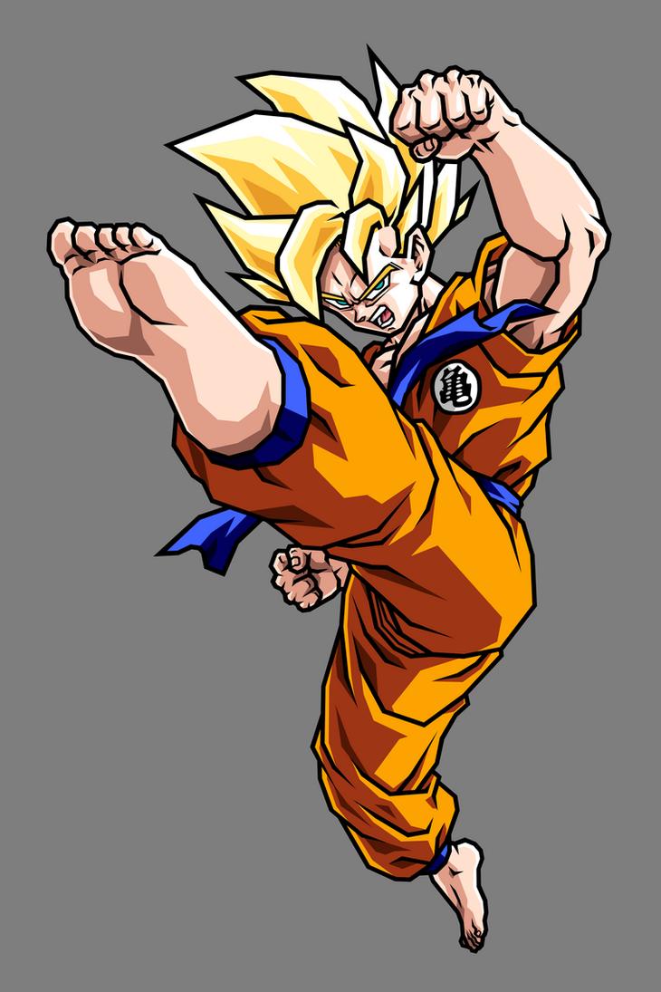 Goku Early SSJ by hsvhrt