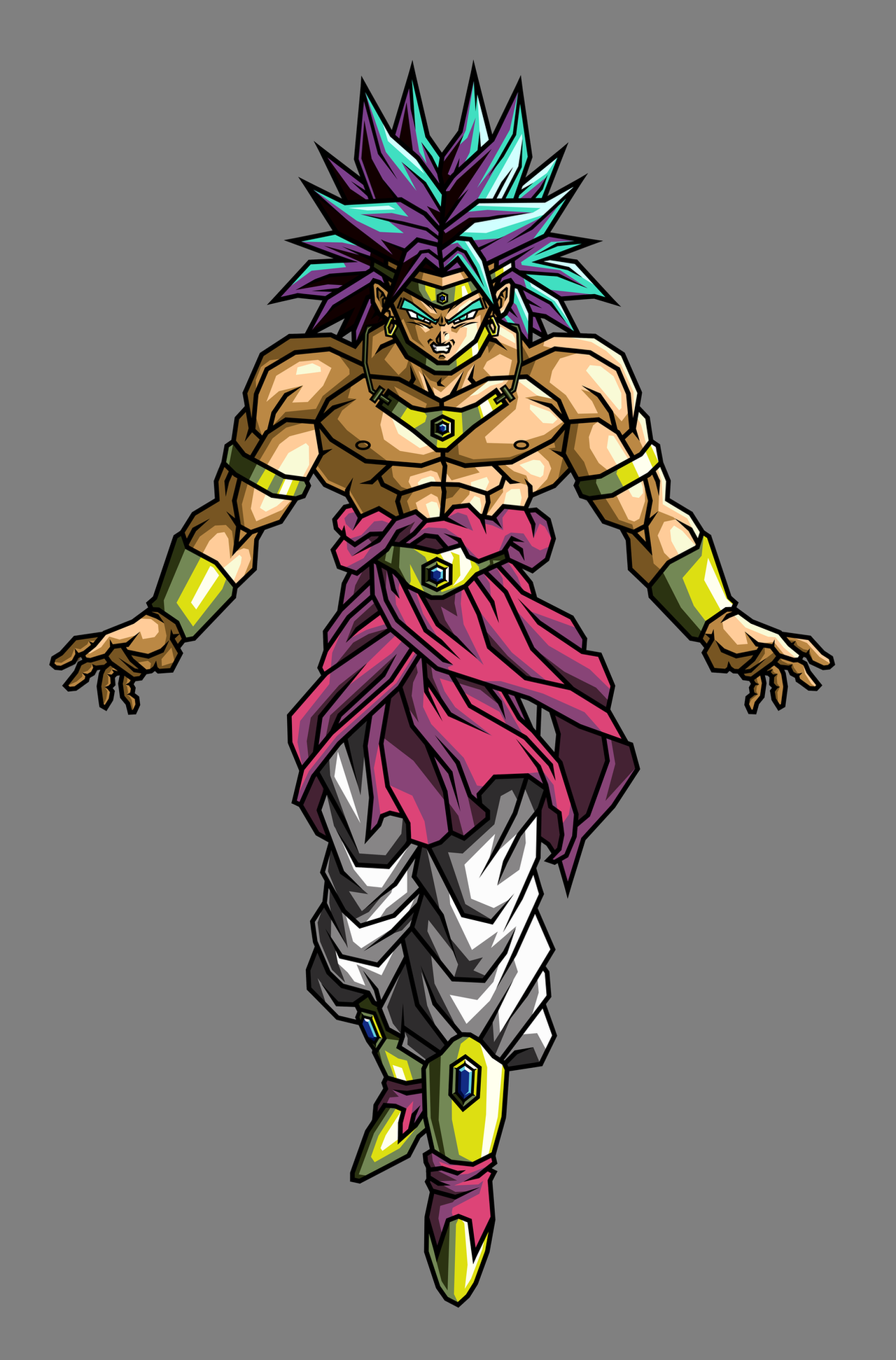 Broly rssj by hsvhrt on deviantart - Broly dragon ball gt ...