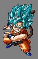 Kid Goku SSGSS by hsvhrt
