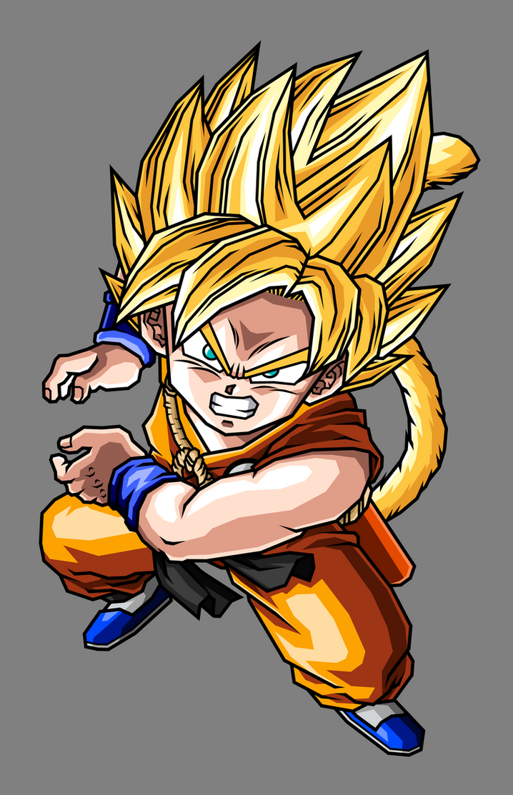 Kid Goku Super Saiyan By Hsvhrt