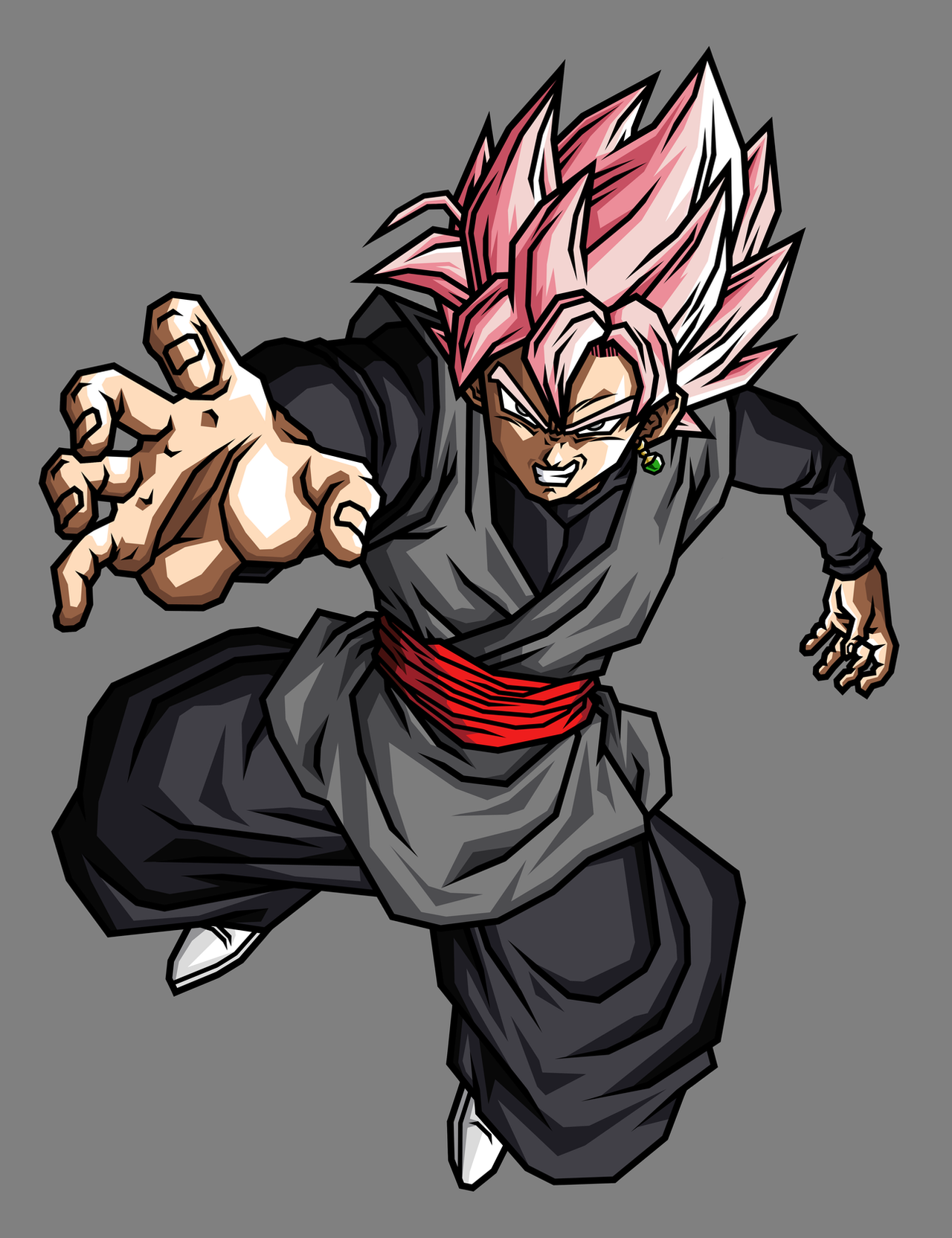 Goku Black SSJ Rose by hsvhrt