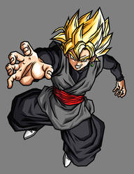 Black Goku SSJ by hsvhrt