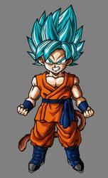 Kid Goku SSJ Blue by hsvhrt
