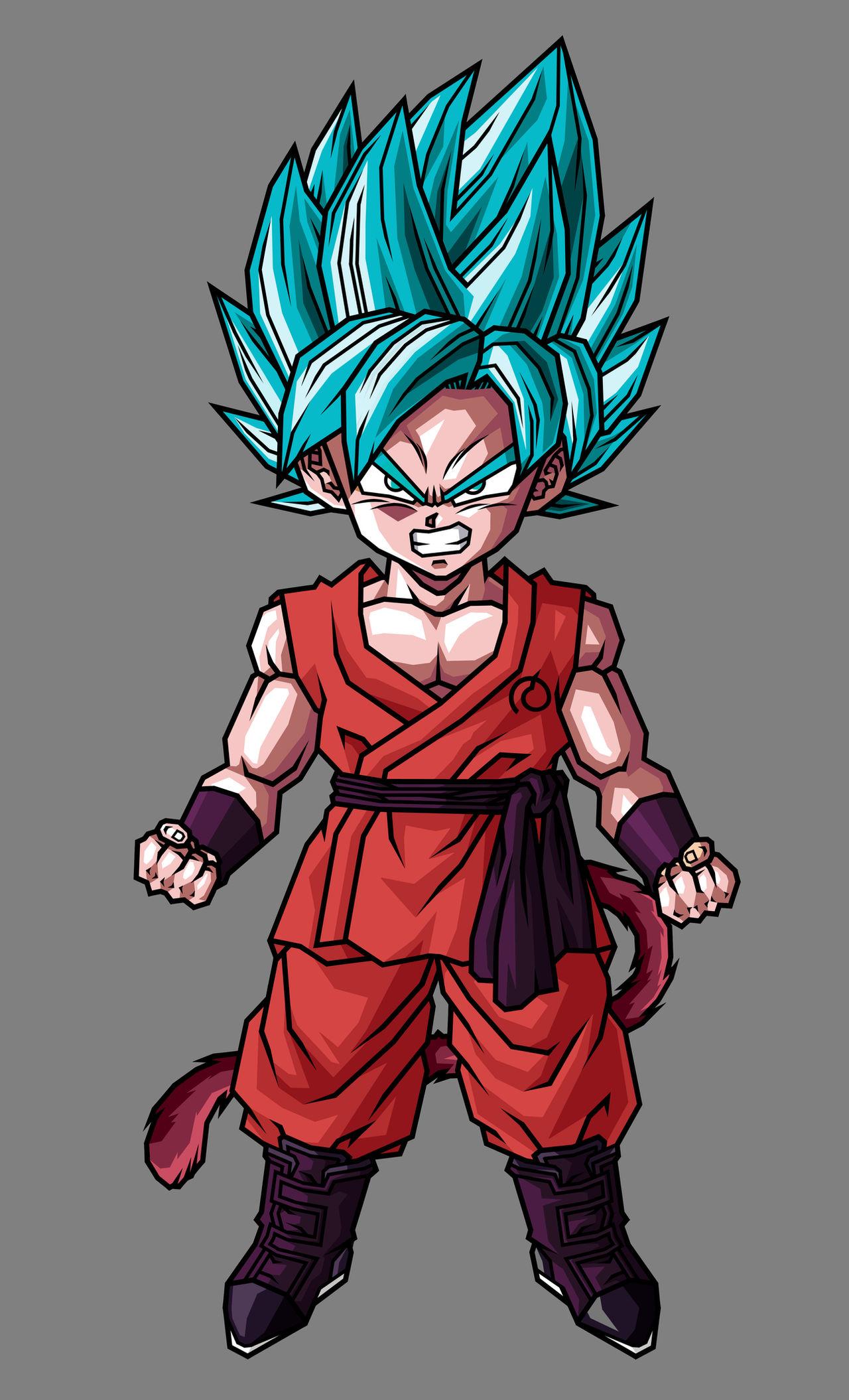 Kid Goku Ssj Blue Kaioken By Hsvhrt On Deviantart