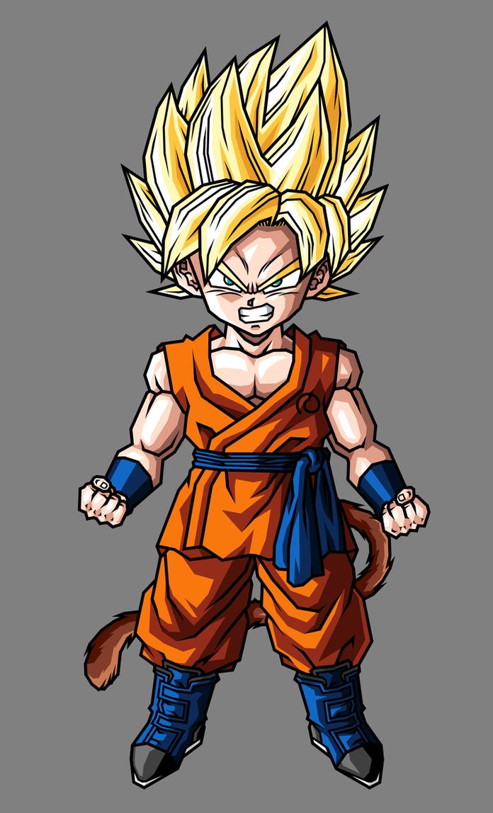 Kid Goku, SSJ by hsvhrt on DeviantArt