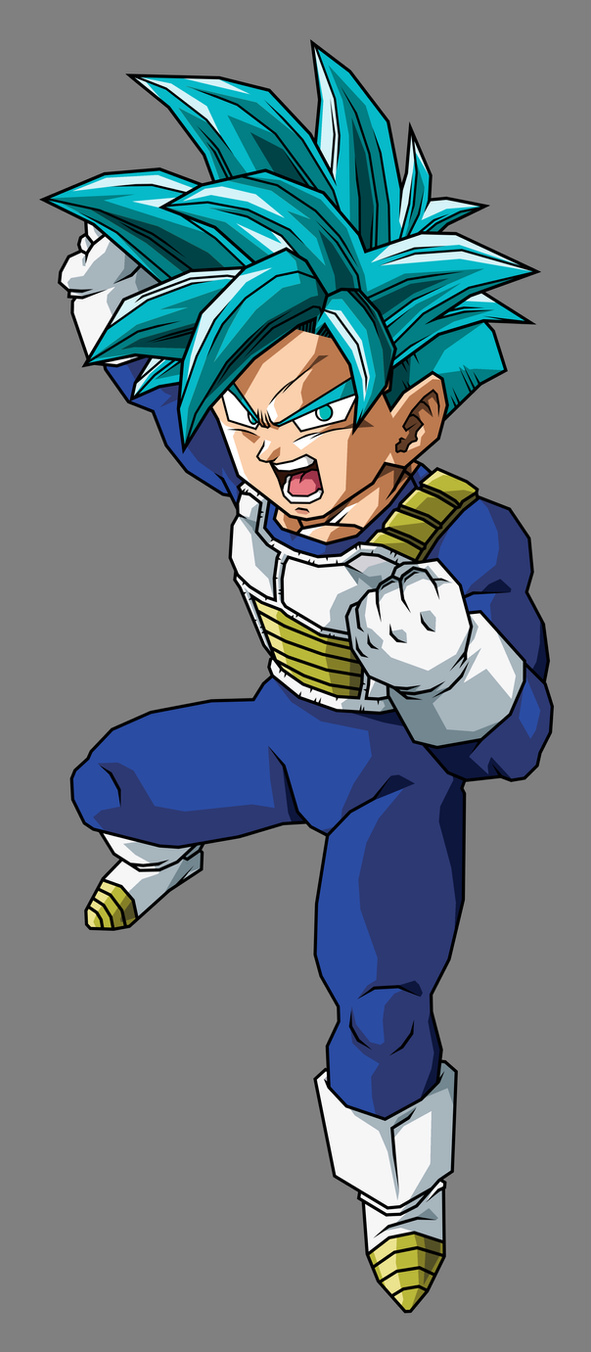 Pre Teen Gohan Super Saiyan Blue by hsvhrt