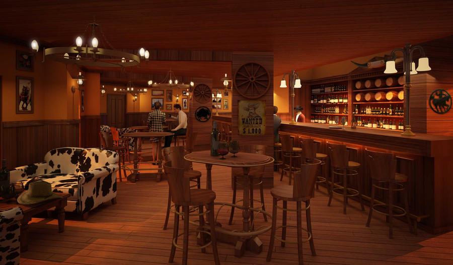 A Cowboy Style Bar In Bahrain By Fdjohan19 On DeviantArt