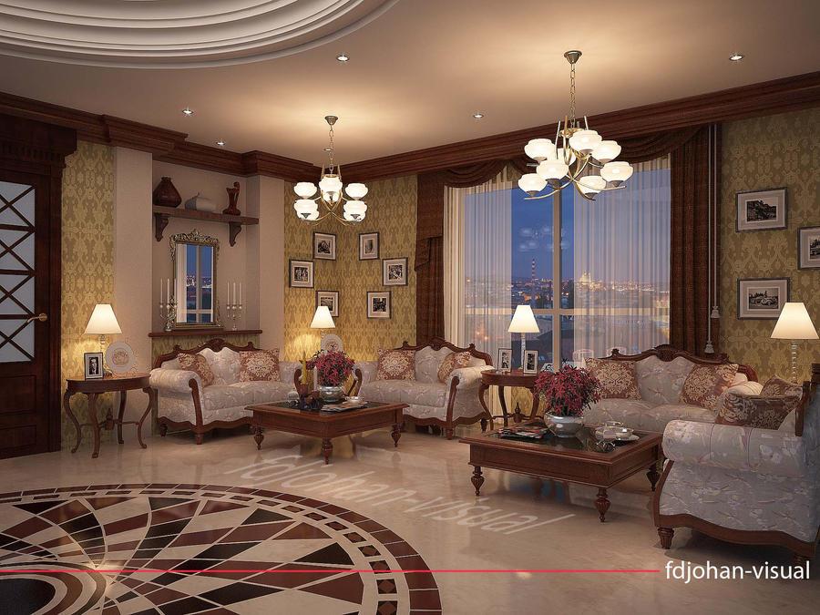 Luxury apartment common room by fdjohan19 on deviantart