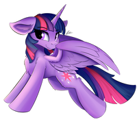 Fluffy Bookhorse by LunarFroxy