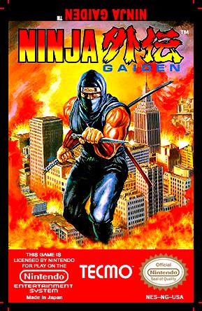 Ninja Gaiden Nes Cartridge Art L By Deadly Rhythm On Deviantart