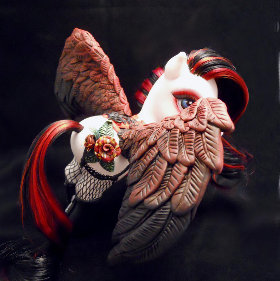 Abracadabra Rose Pegasus custom MLP by BarbedDragon