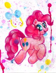 Pinkie Pie Watercolor G4 by BarbedDragon